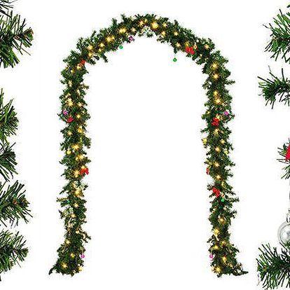 Vánoční dekorační LED věnec s ozdobami nebo bez