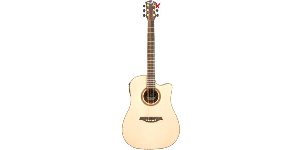 Chord CW46E electro-acoustic quitar, Right-hand, natural