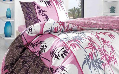 Night in Colours Bambusové povlečení Pembe, 140 x 200 cm, 70 x 90 cm