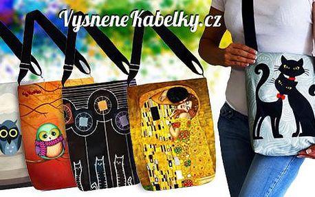 Dámská/dívčí volnočasová kabelka přes rameno s vtipnými motivy. Kabelka je lehká, nepromokavá a ekologická.