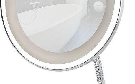 Kosmetické zrcadlo s LED světlem, stříbrné