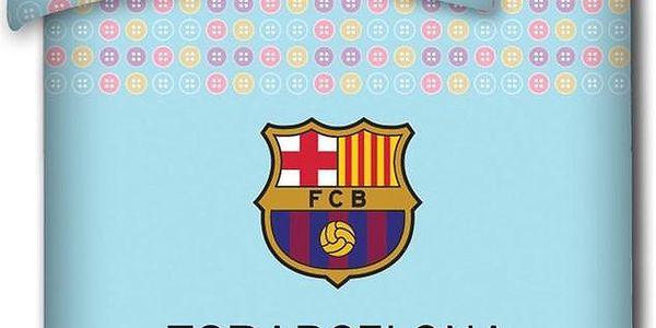Dětské povlečení do postýlky FC Barcelona light, 100 x 130 cm, 40 x 60 cm