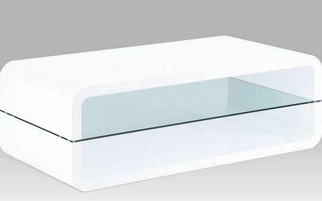 Konferenční stolek, sklo / vys. lesk bílý ahg-012 wt