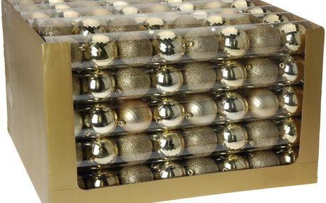 Vánoční koule 8 x 70 mm zlaté