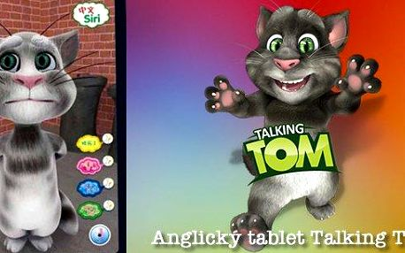 Interaktivní tablet Talking Tom Cat 3D plný angličtiny pro děti. Edukativní hračka pro zábavné vzdělávání. Tom bude skvělým pomocníkem při výuce angličtiny!