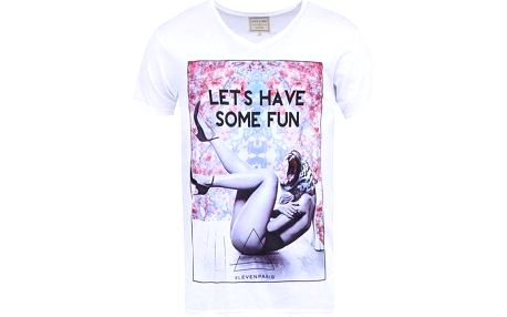 Bílé pánské triko s potiskem Eleven Paris Agirl