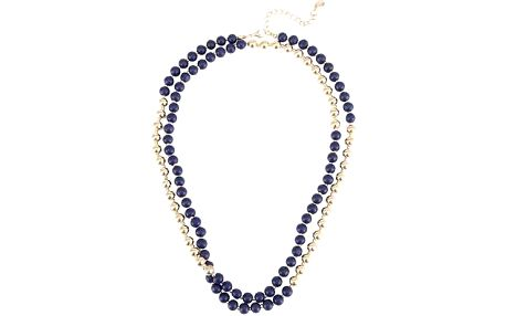 Modro-zlatý korálkový náhrdelník Designsix Savage