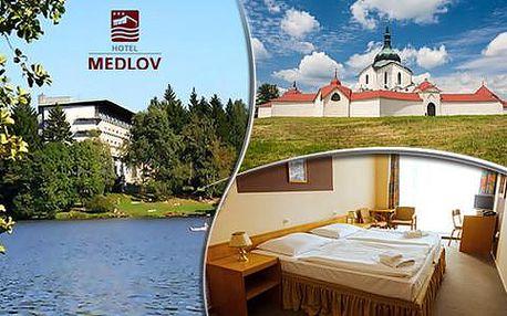 3denní pobyt v Hotelu Medlov*** pro 2 osoby spolopenzí a wellness kreditem, s platností až do konce roku 2016