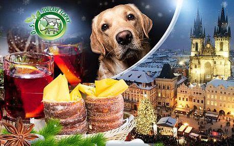 Vychutnejte si kouzlo Vánoční Prahy a přispějte na opuštěná zvířata koupí svařáku s trdelníkem, palačinkou či klobásou!