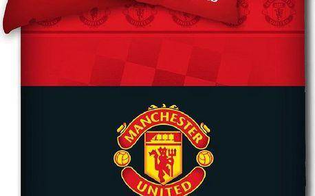 Tip Trade povlečení Manchester United s erbem, 140x200 cm 70x80 cm