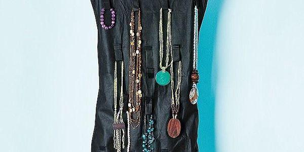 Organizér na šperky - černá barva2