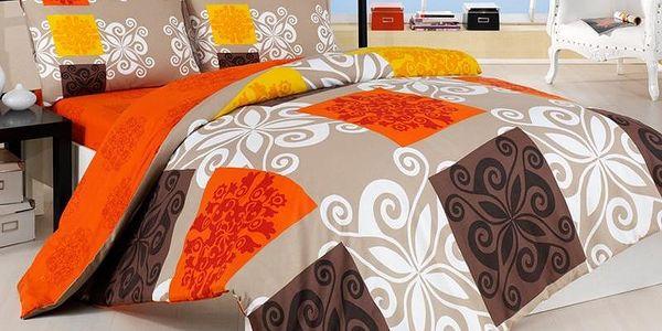 Povlečení Sedef oranž bavlna, 220 x 200 cm, 2 ks 70 x 90 cm2