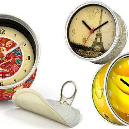 Originální konzerva se zabudovanými hodinami v různých provedeních
