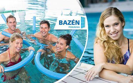 Aqua aerobik - přenosná permanentka na 1-20 lekcí! Zhubněte až 4x snadněji než běžným cvičením!