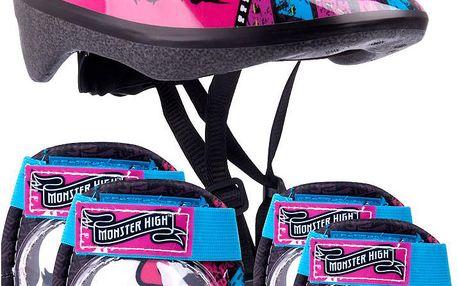 Monster High Helma + chrániče kolen a loktů