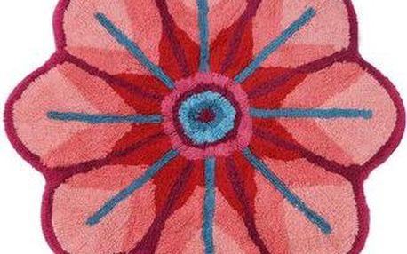 Růžová předložka do koupelny Desigual Handflower