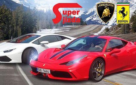 Super jízda v nejnovějším Ferarri F458 Italia či Lamborghini Huracan LP610. 15 či 30 minut jízdy a výběr z 5 lokalit.