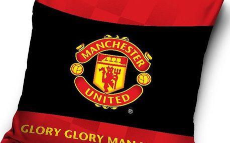 Tip Trade Polštářek Manchester United Black, 40 x 40 cm