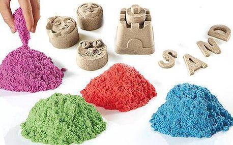 Zázračný tekutý písek 1 kg se 4 různými barvami, 6 formičkami a lopatkou. Doručení ZDARMA!