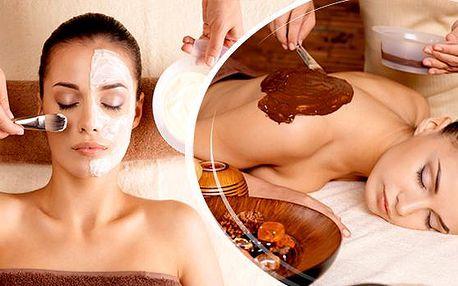 120min.relax balíček - kompletní kosmetické ošetření pleti a čokoládová masáž ve Studiu Step!