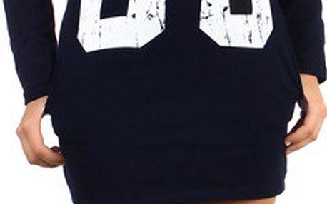 Dlouhé tričko/šaty s výrazným nápisem černá