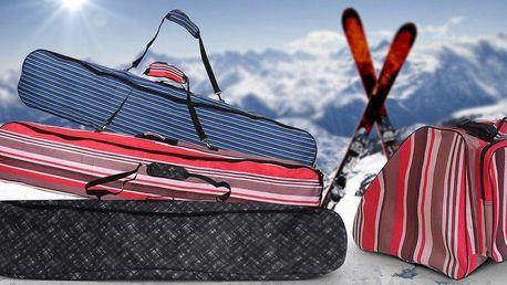 Odolné vaky na lyže, snowboardy nebo boty