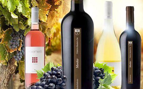 2 kvalitní italská vína z vinařství Menhir Salento! Calamuri, Pass-O, Primitivo a Novementi rosato!