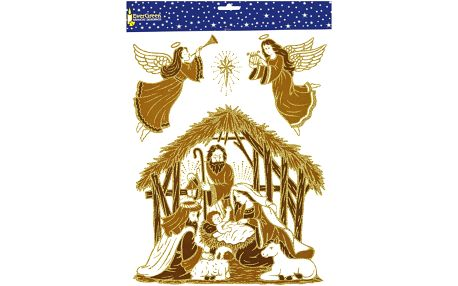 Samolepicí dekorace svatá rodina, 2 ks, HTH