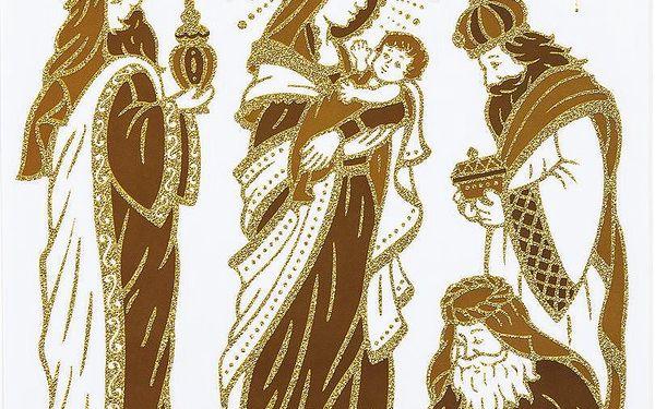 Samolepicí dekorace svatá rodina, 2 ks, HTH2