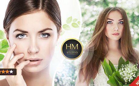 60min. hydratační kosmetické ošetření pleti kyselinou hyaluronovou včetně ultrazvuku, úpravy obočí a barvení!