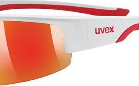 UVEX Sportstyle 215 white mat red (8316) cyklistické brýle