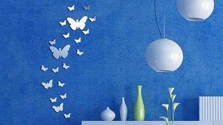 Zrcadlová dekorace v podobě motýlků - dodání do 2 dnů