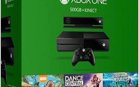 Herní konzole Microsoft 500GB Kinect + Dance Central Spotlight + Kinect Sports Rivals + Zoo Tycoon (6QZ-00082) + DOPRAVA ZDARMA