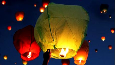 Sada 10 lampiónů štěstí. Pošlete svá přání do nebes!