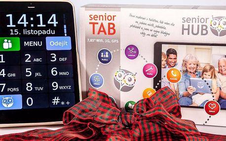 Tablet pro seniory se zabudovaným telefonem