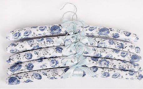 Ramínka 5 ks motiv modrá květina