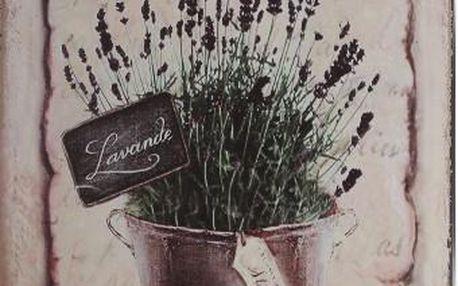 Plechová cedule na zeď tmavá květina