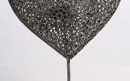 Dekorativní svícen srce na stojánku