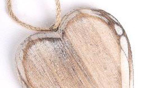 Závěsné dřevěné srdce