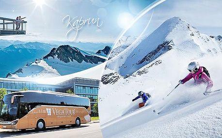 Rakousko, Kaprun - Zell am See! Jednodenní zájezd na lyžování pro 1 osobu včetně dopravy z Prahy, březen 2016!
