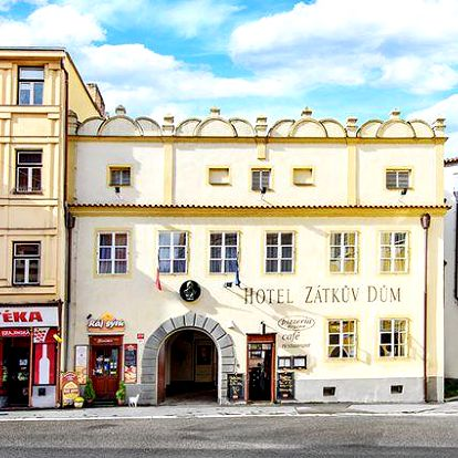 3–5denní pobyt pro 2 v historickém centru Českých Budějovic v hotelu Zátkův Dům