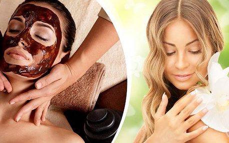 Vyživující čokoládová maska, oční maska ze zeleného čaje + kosmetické ošetření. Ošetření vhodné pro ženy i muže!