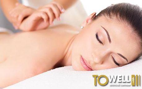 Regenerační masáž šíje a zad s uvolňující a reflexní masáží chodidel
