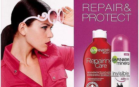 Dárková sada Garnier Repair & Control tělové mléko + deospray Invisible 250 ml + 150 ml