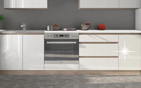 Kuchyňská linka ENILE 260 cm bílý vysoký lesk