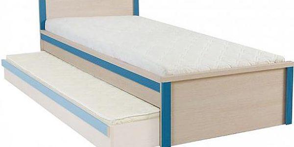 BRW CAPS, postel LOZ/90, dub sv. belluno/modrá