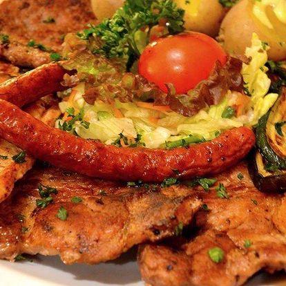 Balkánské masové menu vč. předkrmu