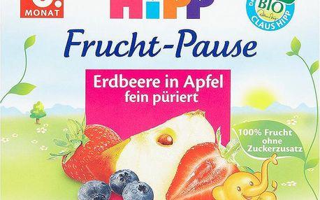 Hipp 100% Ovocná přesnídávka jablka s jahodami od 4. měsíce 4 x 100 g