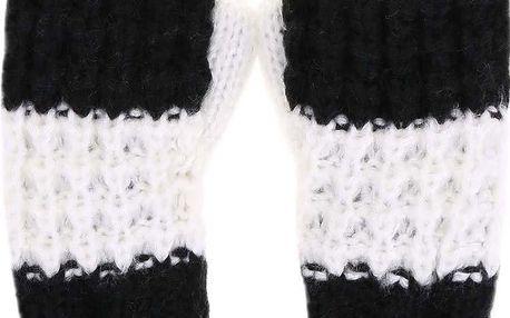 Černo-bílé dámské pruhované palčáky Cheap Monday Want