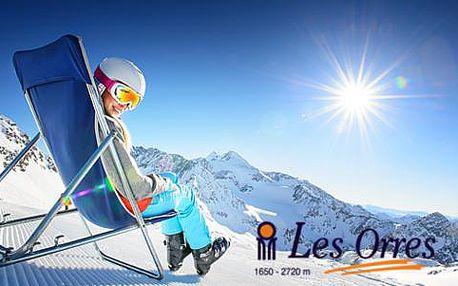 Lyžařský zájezd do Les Orres se skipassem, ubytováním a vlastní nebo autobusovou dopravou